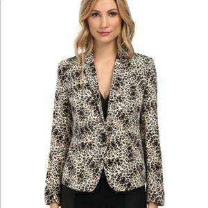Vince Camuto Leopard Animal Print Blazer Jacket